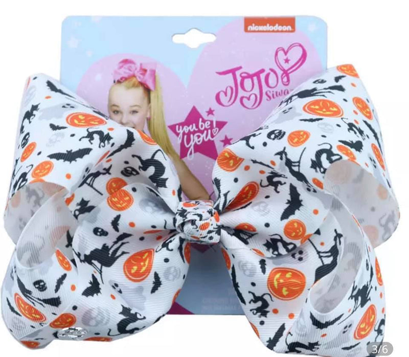 "8"" Girls Halloween Bow"