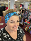 Yoga Headband/face cover Blue Butterfly