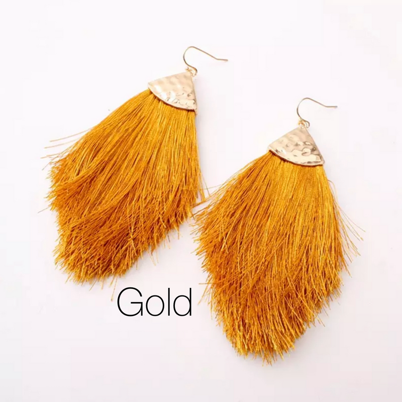 CeCe Silk Tassel Drop Earrings