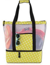 Load image into Gallery viewer, BEACH BAG TOTE W/COOLER