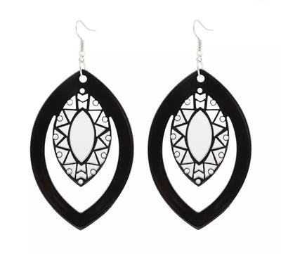 Morocco leaf Acrylic Drop Earring