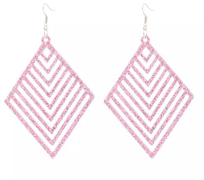 Multiple square acrylic drop earrings