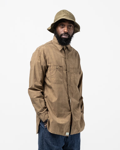 Vintage Fit Work Shirt Green Check