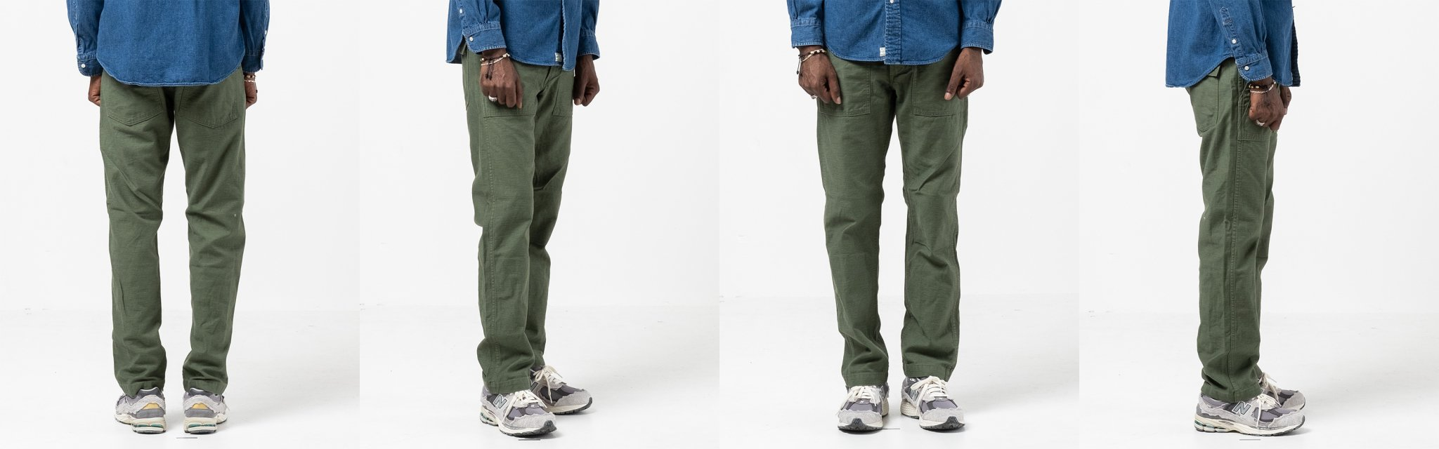 orslow us army slim fit fatigue pants green