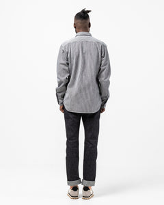 05-290 Hickory Work Shirt Striped Indigo - Meadow of Malmö