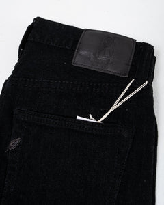 12 oz Stretch Relaxed Tapered Double Black 1161-BB - Meadow