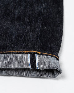 17.5 oz EX Slub Relaxed Tapered Wash Indigo EX-019 - Meadow