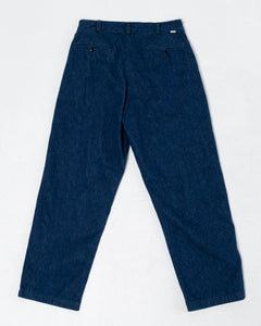 Two Tuck Denim Wide Trousers One Wash