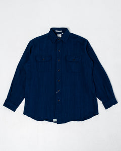 Vintage Fit Flannel Shirt Indigo