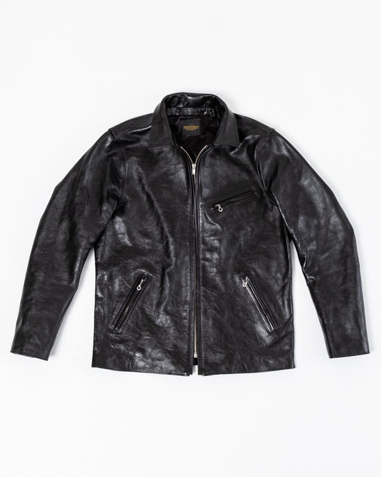 Alonzo Jacket Horsehide Black - Meadow of Malmö