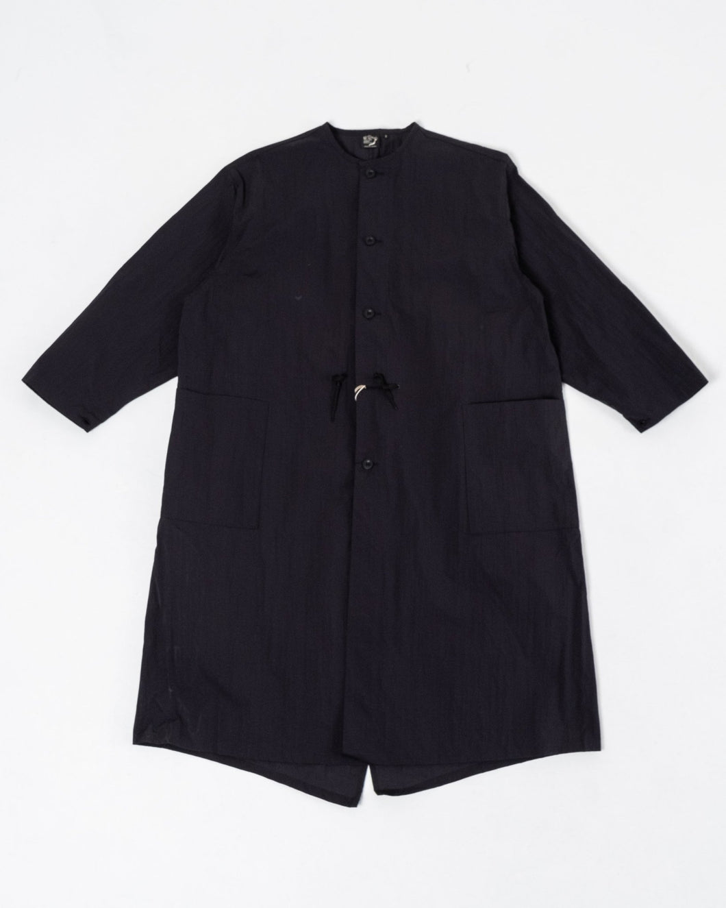 Black No Collar Coat - Meadow