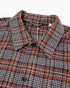 Box Shirt Orange/Brown Rustic Plaid - Meadow of Malmö