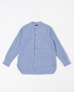 Branded Collar Shirt Navy Stripe - Meadow of Malmö