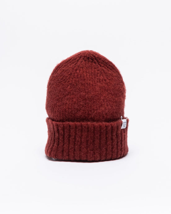 Brushed Lambswool Beanie Carmine Red - Meadow of Malmö