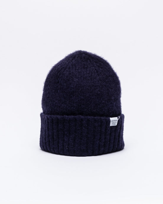 Brushed Lambswool Beanie Dark Navy - Meadow of Malmö