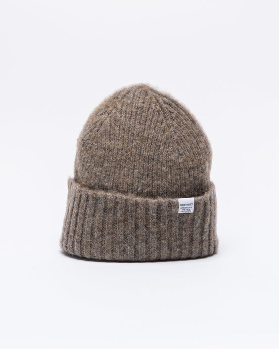Brushed Lambswool Beanie Shale Stone - Meadow of Malmö