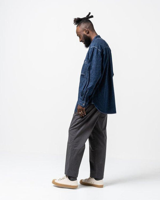 Comfort Wide Easy Trousers Charcoal - Meadow of Malmö