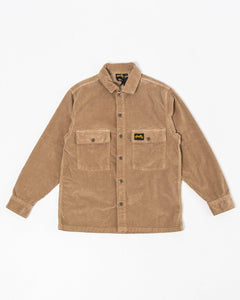 Cord CPO Shirt Khaki - Meadow of Malmö