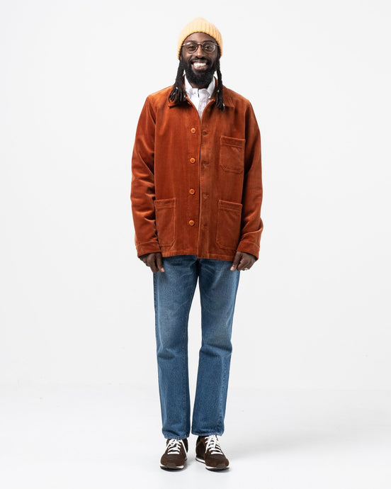 Corduroy Work Jacket Rust - Meadow of Malmö