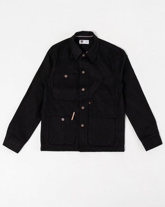 Coverall Jacket 13.5 oz Black Selvage - Meadow