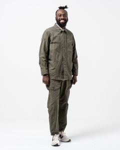 Coverall Jacket Cotton Hemp Khaki - Meadow