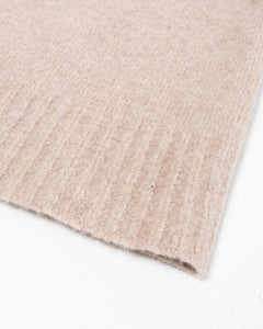 Crewneck Seamless Wool Cashmere Beige Melange - Meadow of Malmö
