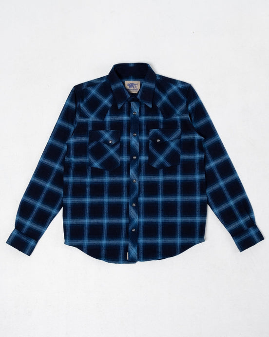 Dawson Flannel Indigo Check - Meadow