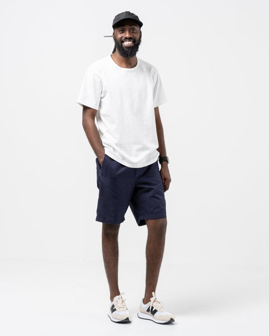 Evald Canvas Work Shorts Navy - Meadow