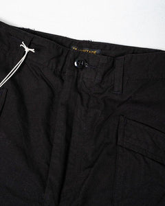 Fatigue Trousers Ripstop Black - Meadow of Malmö