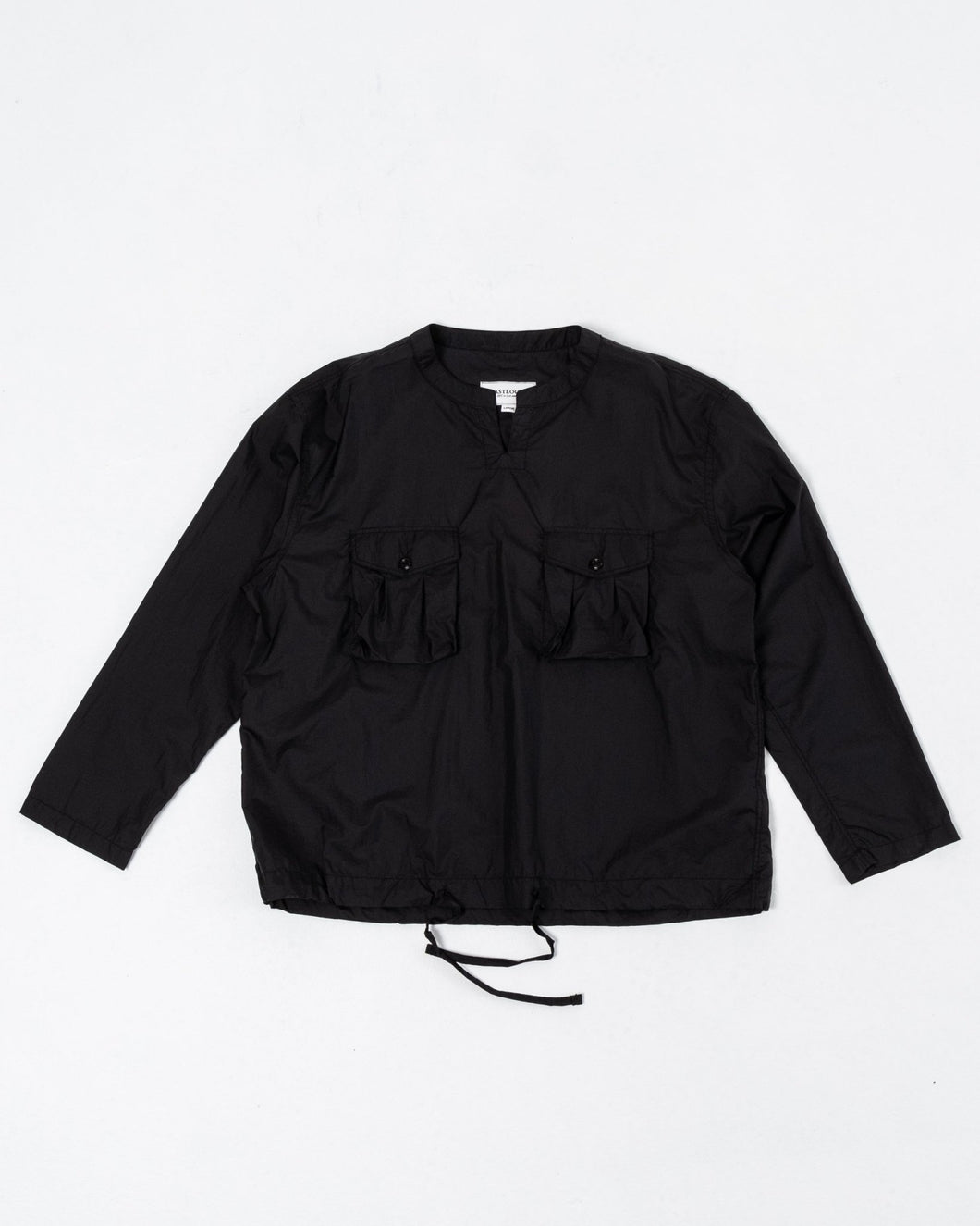Field Pullover Shirt Black Nylon Ripstop - Meadow of Malmö