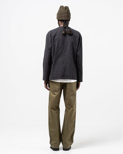 Henley Neck Shirt Charcoal - Meadow of Malmö
