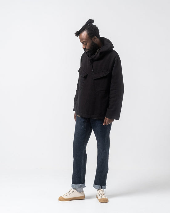 Hooded Pullover Shirt Jacket Black - Meadow of Malmö