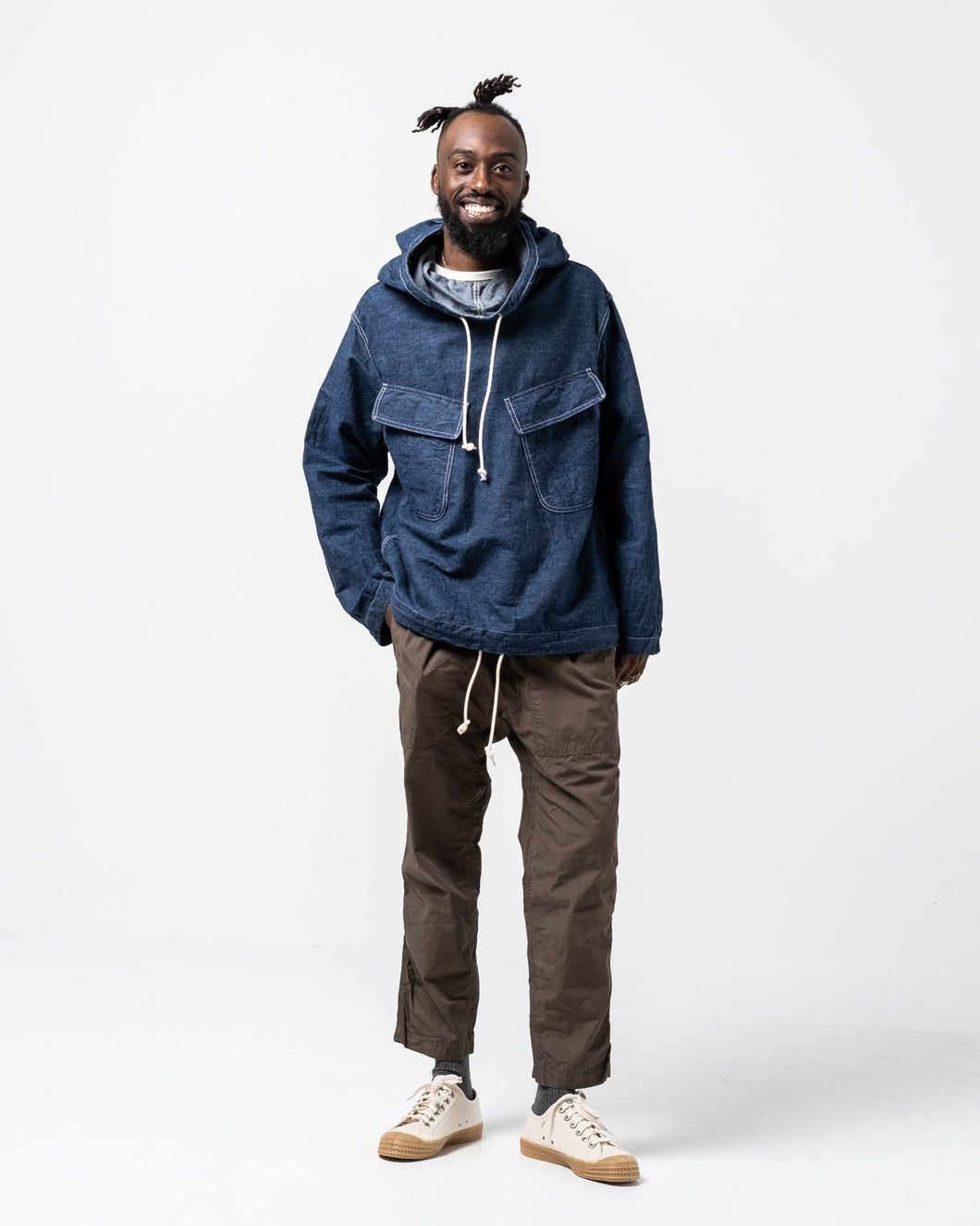 Hooded Pullover Shirt Jacket One Wash - Meadow of Malmö