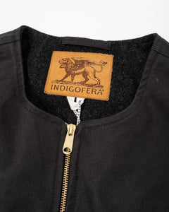 Iconic Vest Military Bedford / Wool Lining Charcoal - Meadow of Malmö