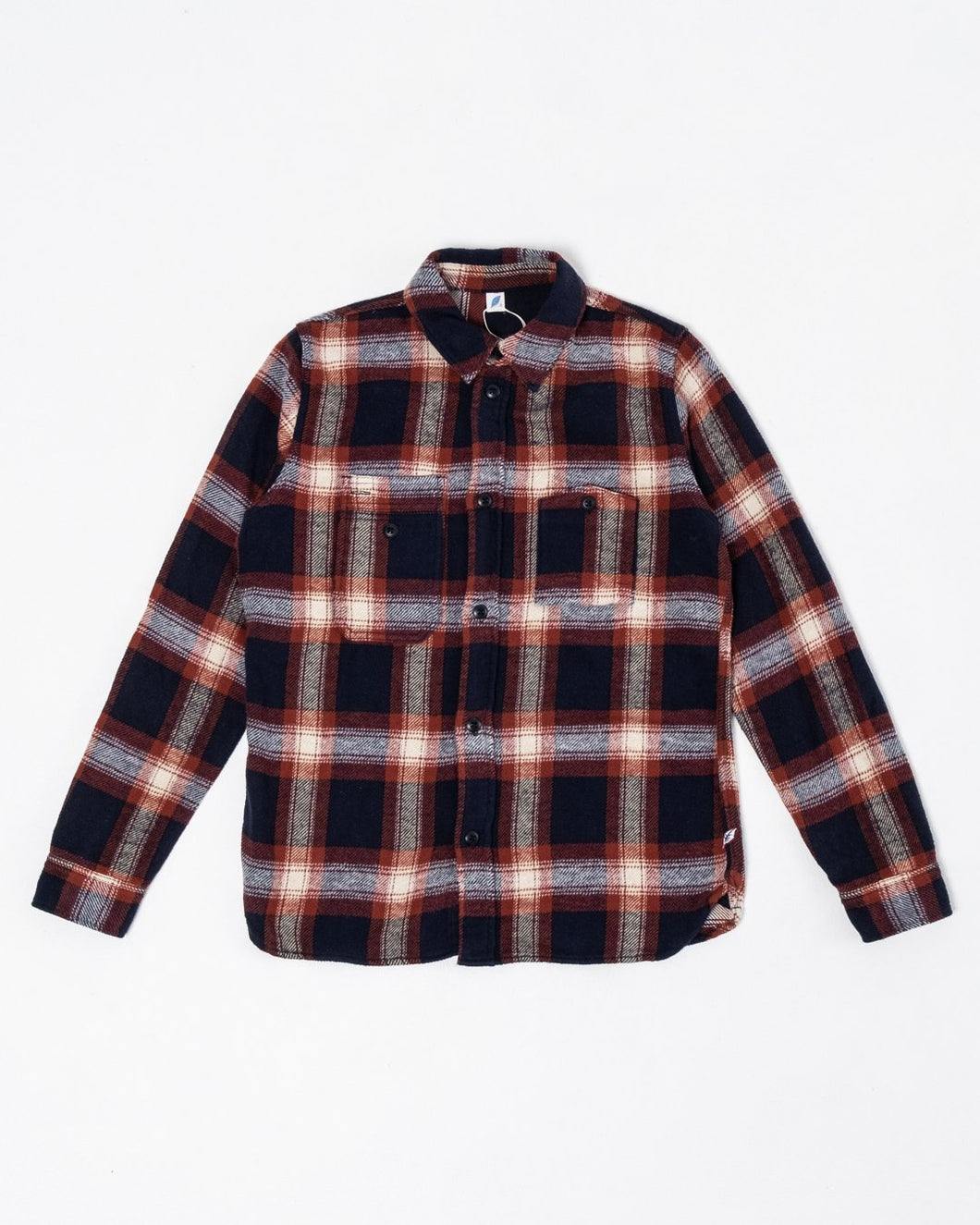 Indigo Check Flannel Work Shirt Red - Meadow