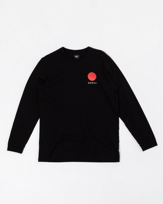 Japanese Sun LS T-Shirt Black - Meadow of Malmö