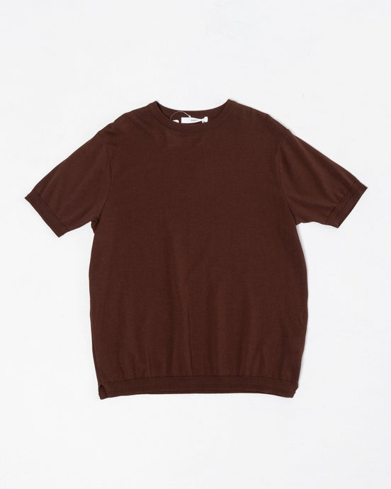 Knit T-Shirt Brown - Meadow