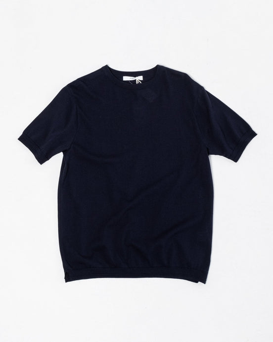 Knit T-Shirt Navy - Meadow