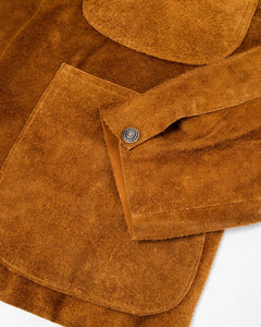 Leather Utility Coverall Brown Suede - Meadow of Malmö