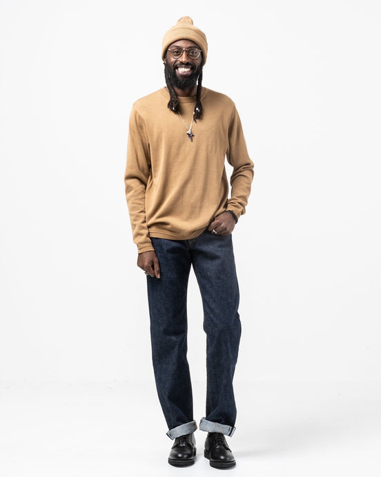 L/S Knit T-Shirt Camel - Meadow of Malmö