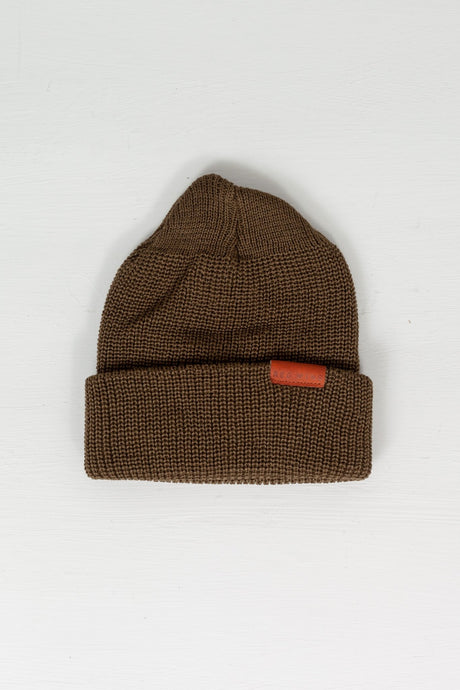 Merino Wool Beanie Olive - Meadow of Malmö