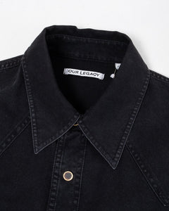New Frontier Shirt Black Denim - Meadow of Malmö