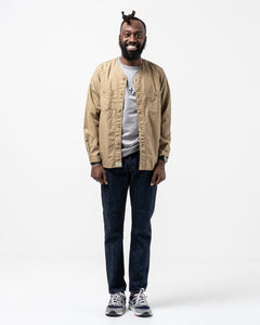 No Collar Shirt Khaki - Meadow