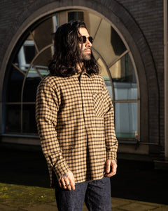Pullover Shirt Brown Check - Meadow
