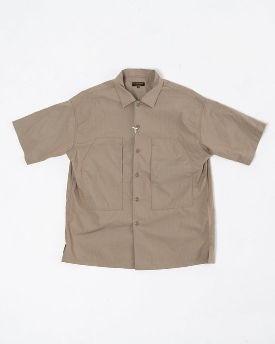 PW Open Shirt Ripstop Olive Drip - Meadow of Malmö