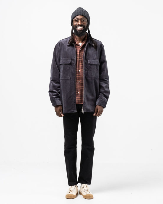 Radar Shirt Corduroy 8 Ribs Ebony - Meadow of Malmö