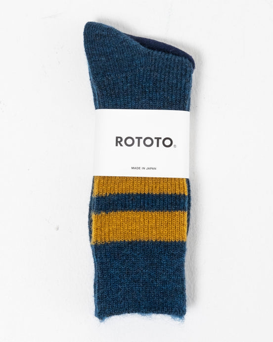 Reversible Brush Mohair Socks D.Blue - Meadow of Malmö