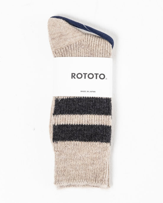 Reversible Brush Mohair Socks Raw Beige - Meadow of Malmö