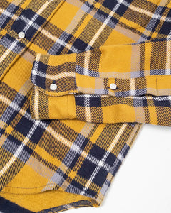Rough Check Flannel LS Button Down Yellow - Meadow of Malmö