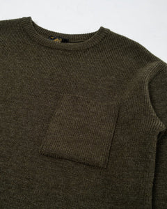 Salaun Sweater Virgin Wool Kaki - Meadow